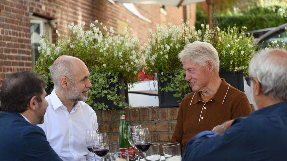 Rodríguez Larreta almorzó con Bill Clinton en Nueva York