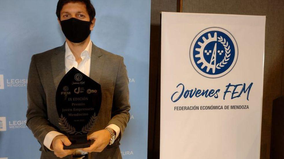 Gastón Ragazzone es el Joven Empresario Mendocino