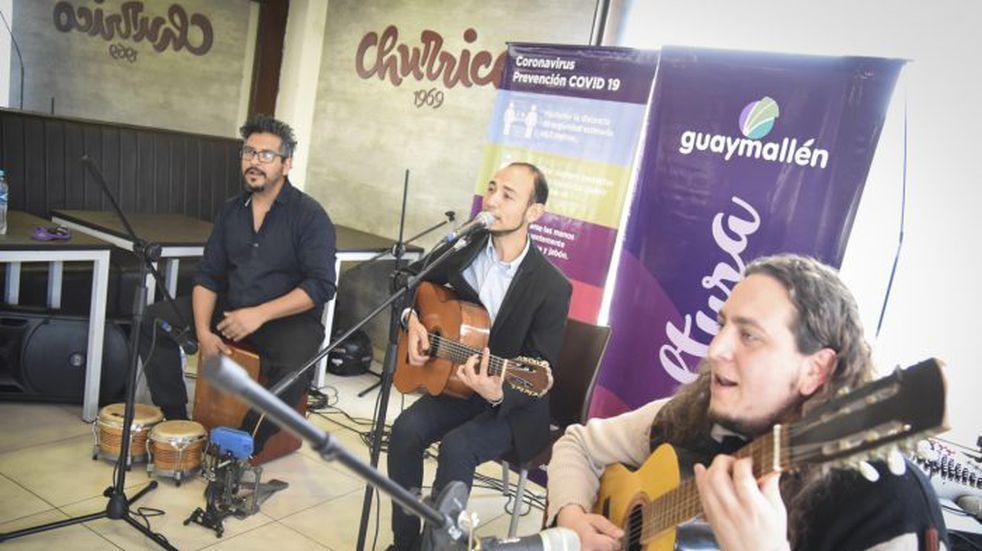La banda que sorprendió está formada por Nicolás Palma, Nahuel Jofré y Carlos Pereyra.