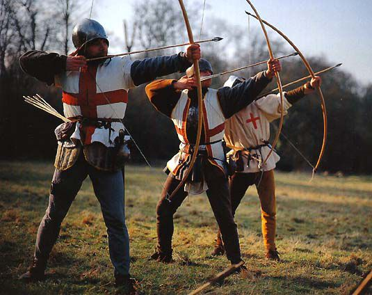 Arqueros de la Edad Media.