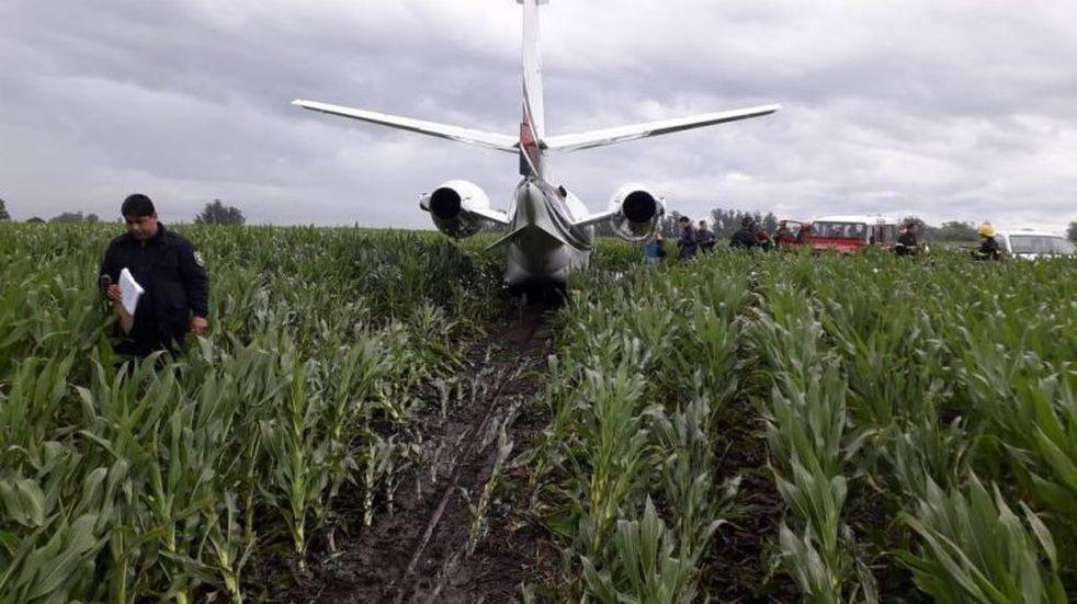 Un avión aterrizó de emergencia en un campo cerca de Mar del Plata