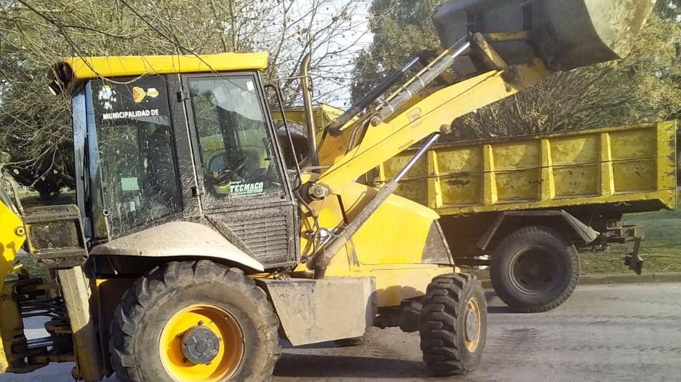 Se continúa trabajando en la reparación de calles