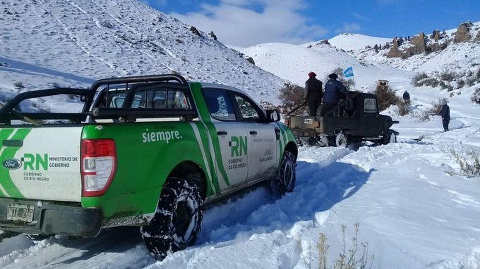 Realizan en Río Negro tareas de protección ante el anuncio de nuevas nevadas y lluvias