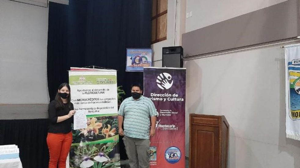 Montecarlo y Eldorado: entregaron créditos para potenciar la floricultura