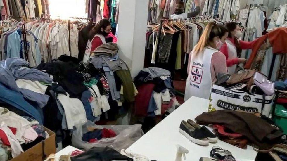 Cáritas inició una campaña solidaria para ayudar a las familias afectadas por la tormenta