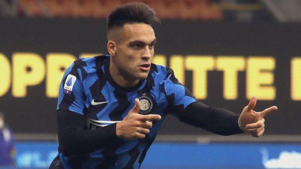 Tres goles del bahiense Lautaro Martínez para la victoria del Inter