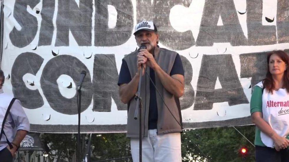 "Eduardo Belliboni, vocero del Polo Obrero: ""No vamos a ningún lado por un  choripán"" | Vía País"