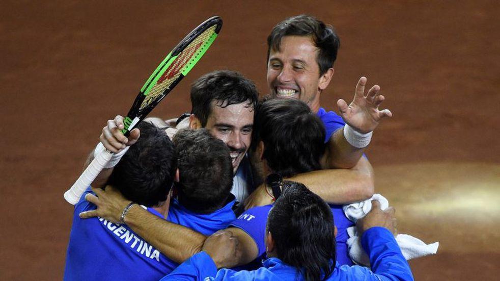 Copa Davis: Argentina, con equipo confirmado para enfrentar a Colombia en el repechaje