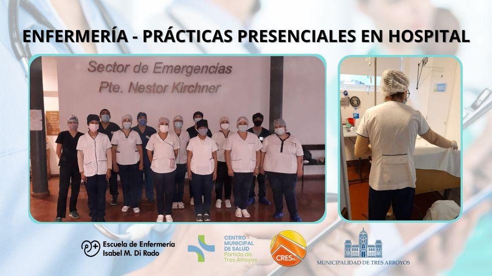 Comenzaron las prácticas presenciales de Enfermería en el Hospital Pirovano