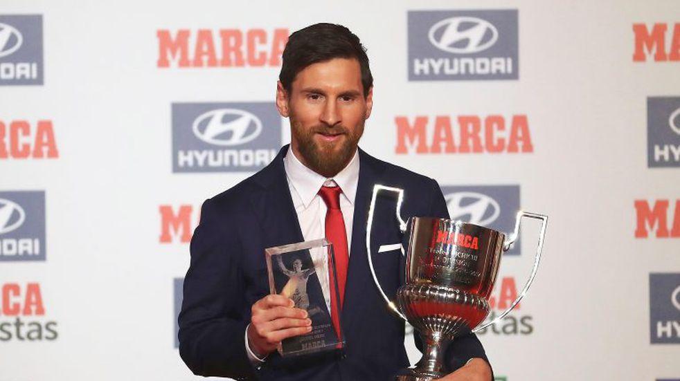 Messi fue galardonado como el Mejor Jugador de la Liga de España