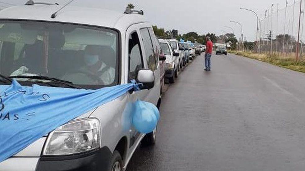 """Caravana por las """"dos vidas"""" en Punta Alta"""