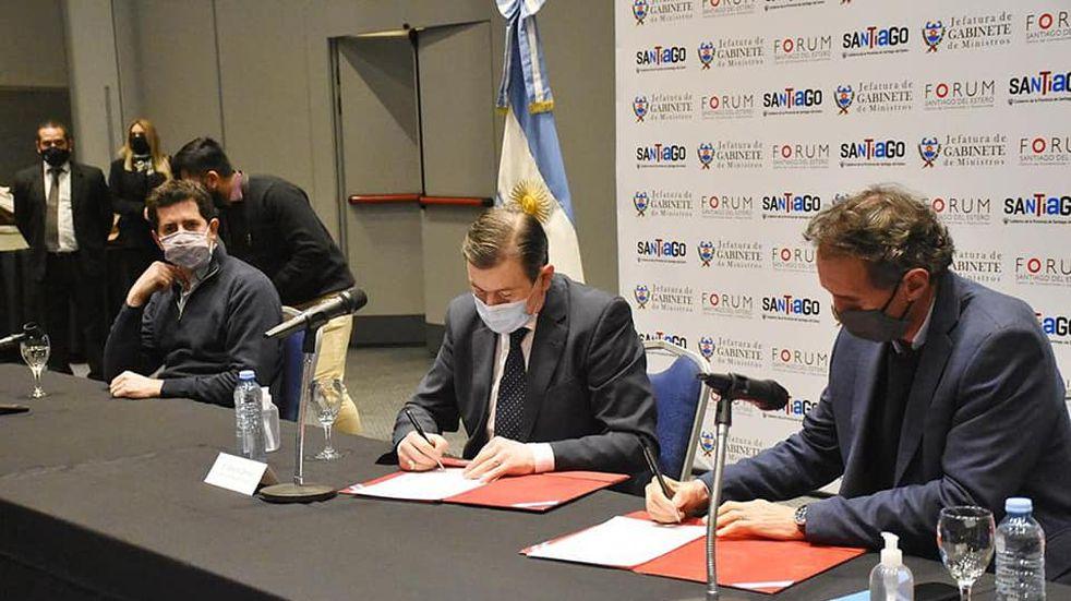 Obras: Zamora, Katopodis y De Pedro firmaron importantes convenios