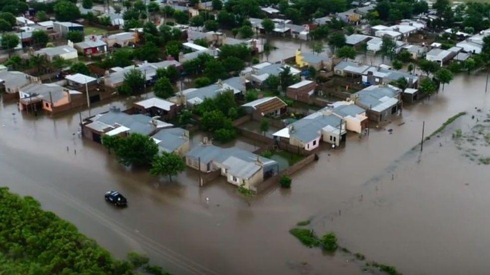 Todo anegado: el video que muestra la crudeza de la inundación en San Justo
