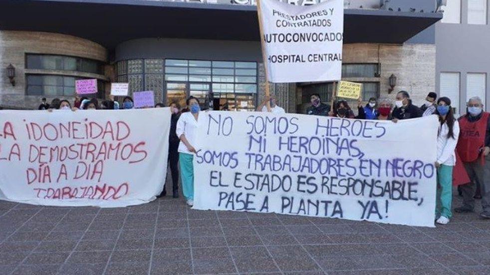 Los trabajadores de la salud hoy vuelven a manifestarse