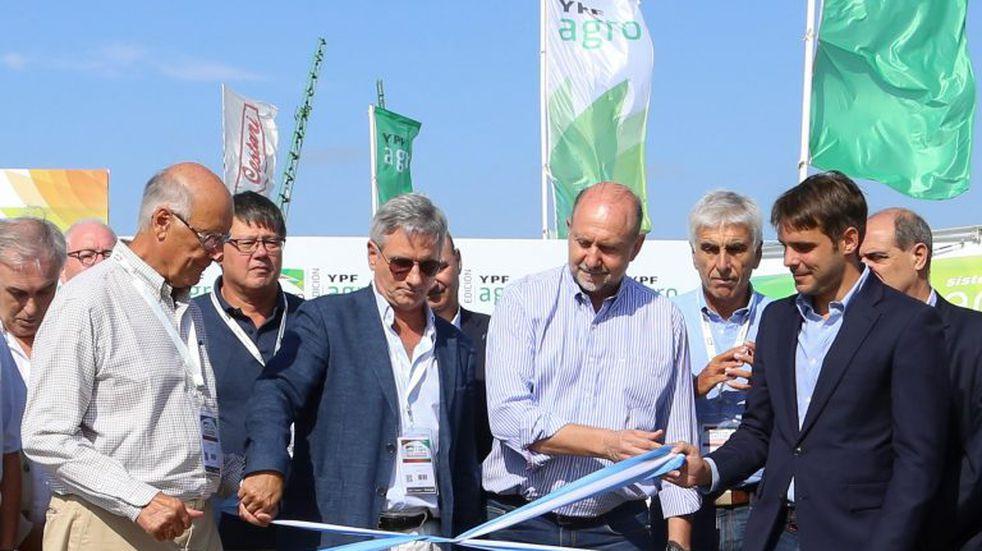 Omar Perotti crítico con el paro del agro en la apertura de Expoagro