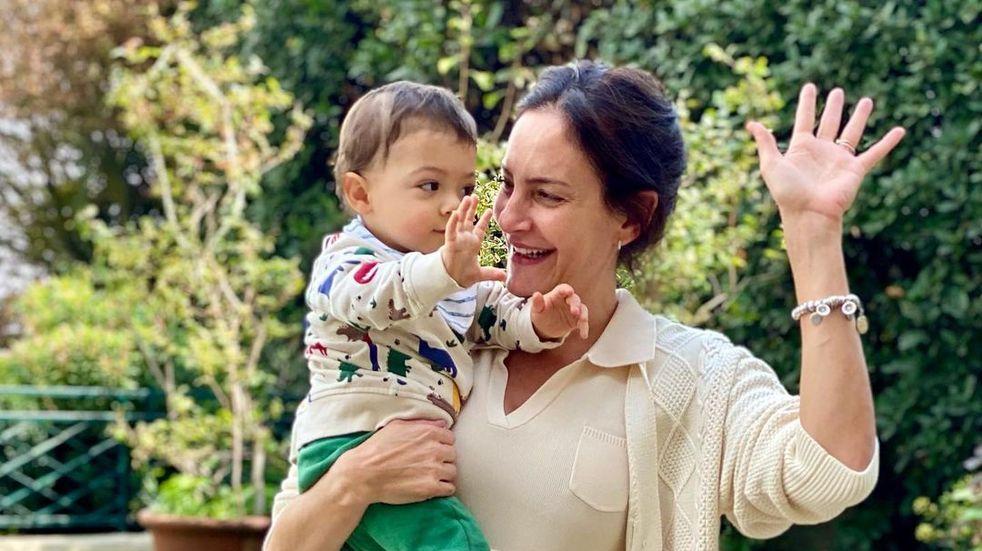 El hijo de Luciana Aymar alentó a la Selección con la camiseta de su mamá