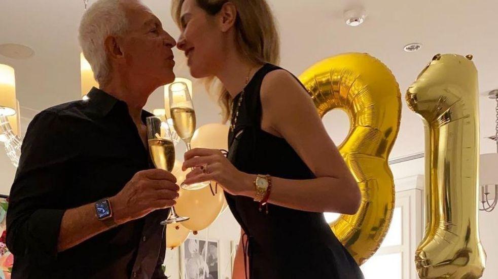 El video del festejo íntimo del cumpleaños de Elina Fernández con Eduardo Costantini en Florida