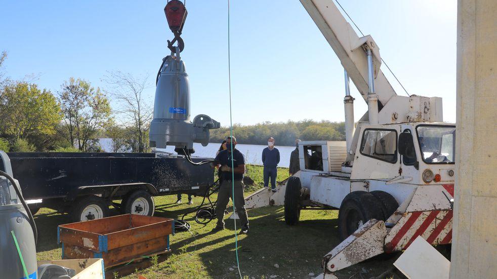 ENOHSA: Gualeguaychú recibió dos nuevas bombas sumergibles