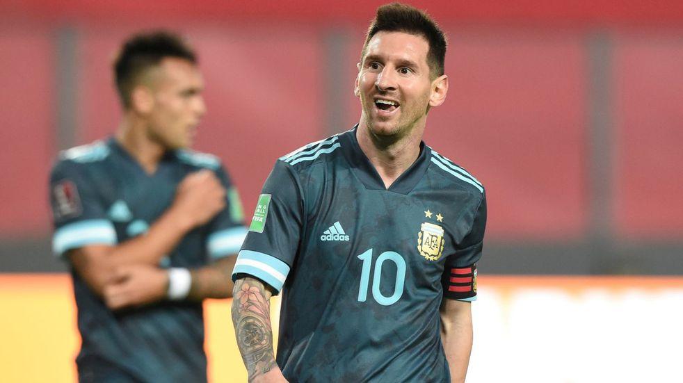 """Lionel Messi, tras la victoria ante Perú: """"Me siento muy bien en este equipo"""""""