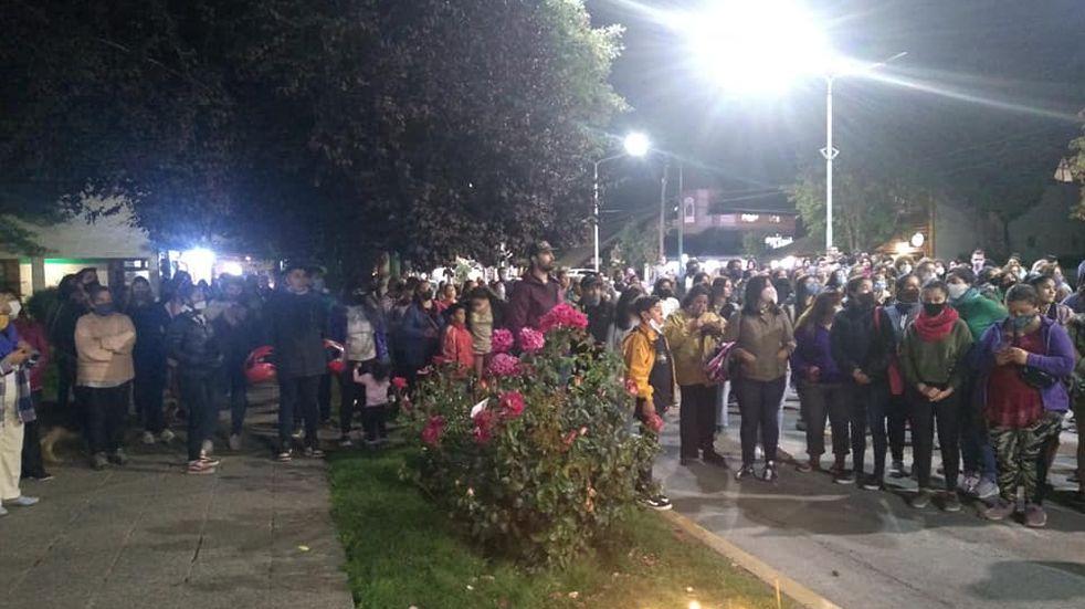 Marcha por el femicidio de Guadalupe Curual: la víctima ya había denunciado a su ex