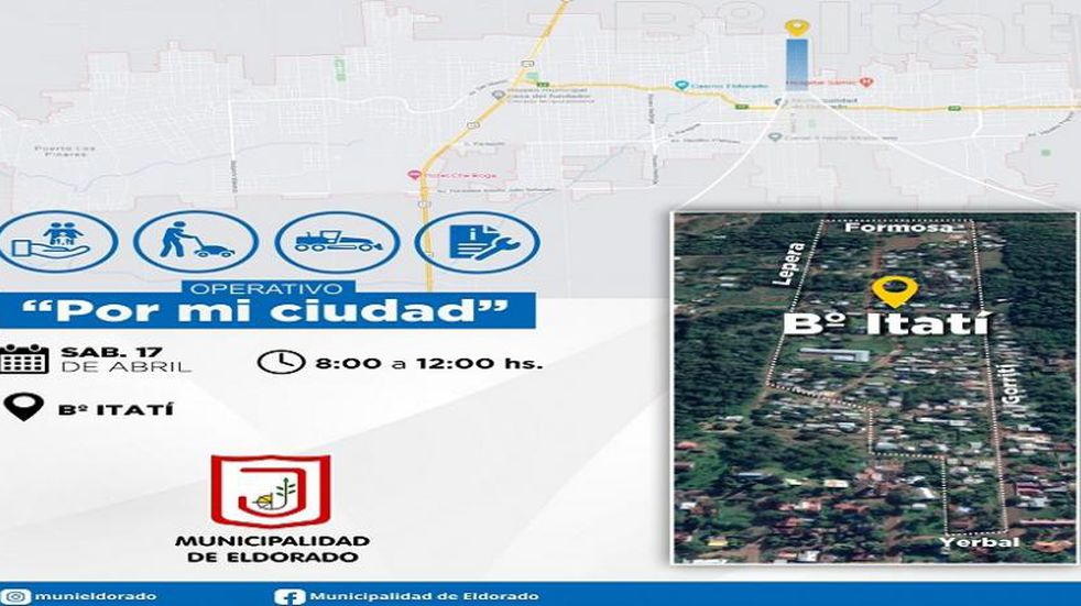 """Operativo """"Por mi Ciudad"""" continúa por los barrios: esta vez estará en Itatí"""