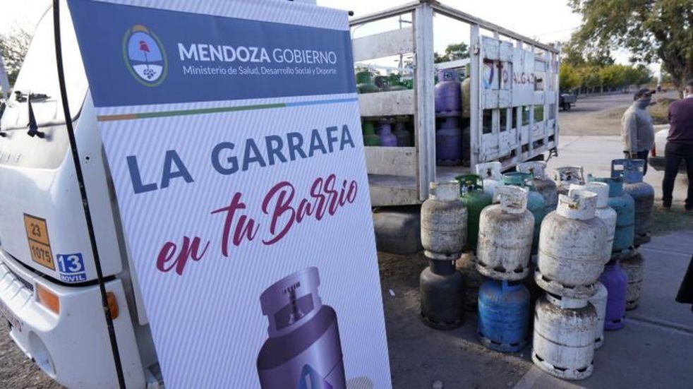Durante la semana que se inicia la Garrafa en Tu Barrio tendrá 63 puntos de distribución. Gobierno de Mendoza