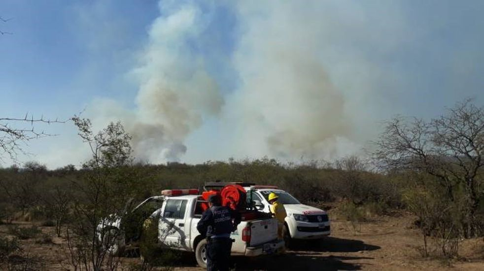 Incendio de campos fue sofocado en las primeras horas de la noche