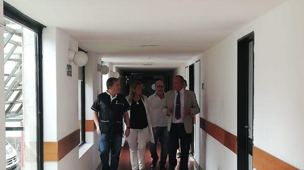 El intendente visita el hospital para interiorizarse del trabajo preventivo
