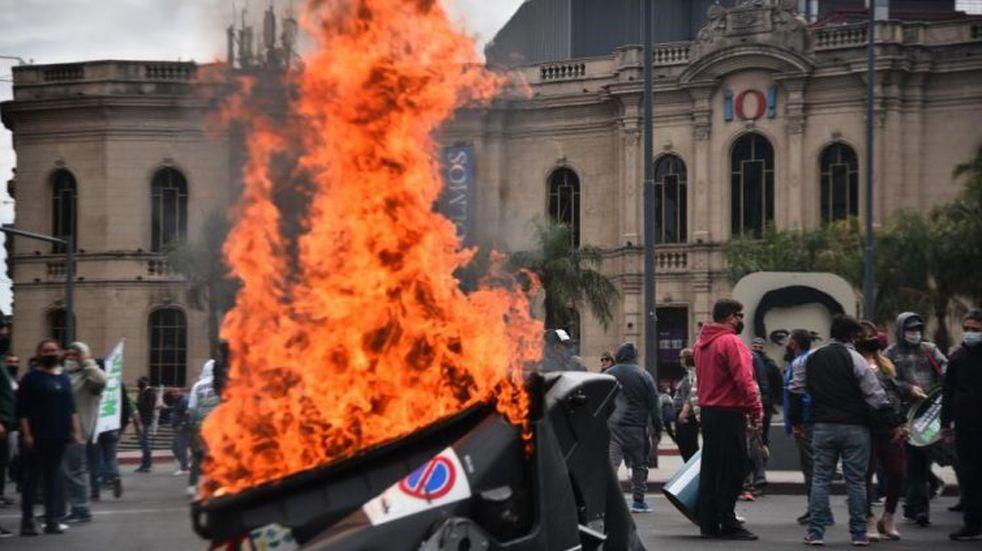 La Municipalidad condenó la violencia que se evidenció durante la protesta del Suoem