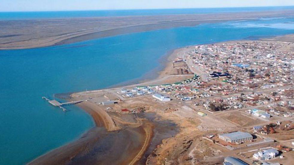 Video: ingreso del agua al saco de la bahía en Puerto San Julián