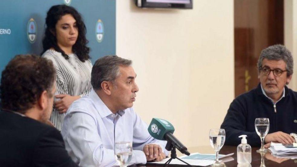 Mendoza anunció el plan para afrontar la crisis económica