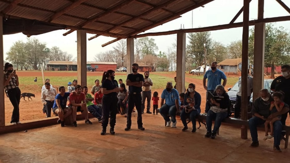 La comunidad Fortín Mbororé fue sede de una charla para prevenir  incendios