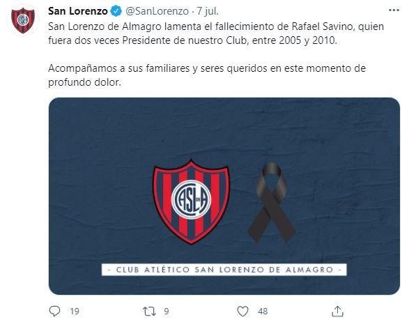 Murió Rafael Savino.