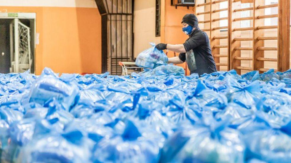 Continuará el próximo lunes la entrega de módulos alimentarios