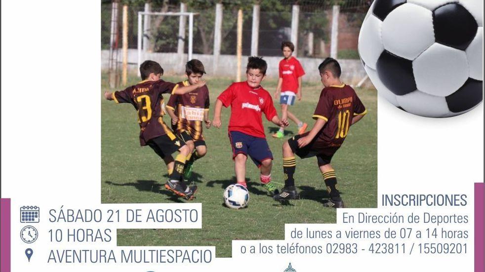 Encuentro interbarrial de fútbol infantil