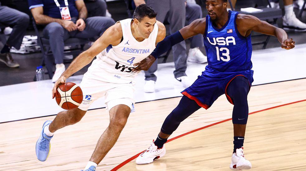 La Selección Argentina de básquet cayó contra Estados Unidos en la preparación de Tokio 2020