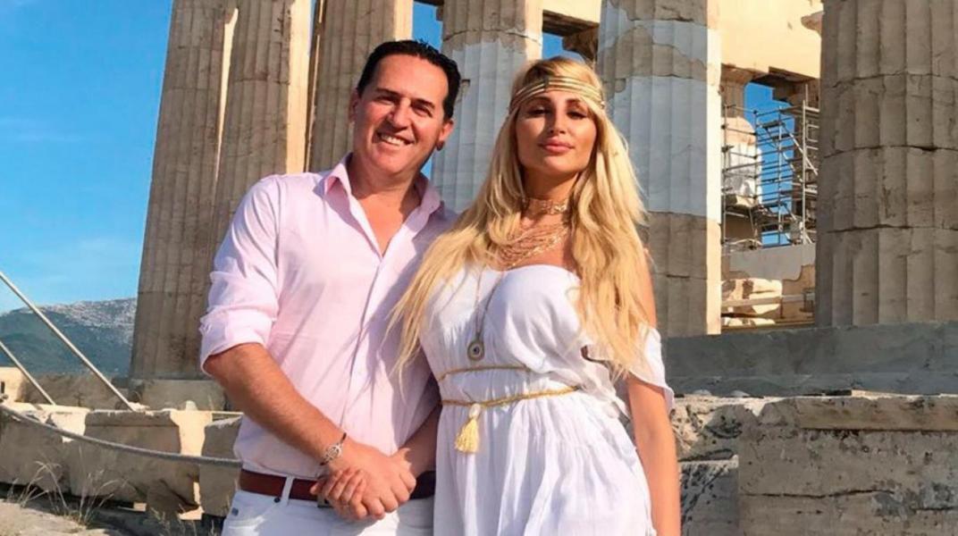 Vicky Xipolitakis y su ex marido, Javier Naselli.