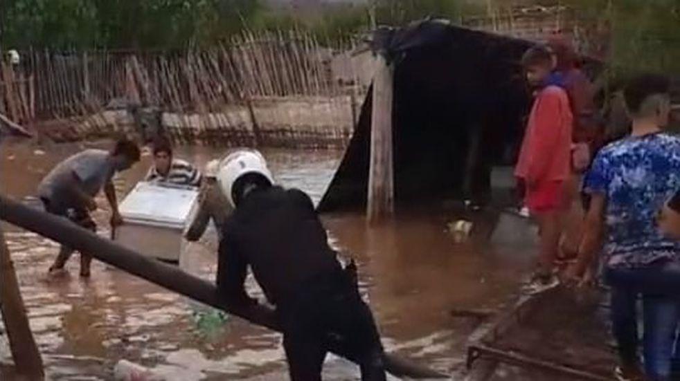 Analizan rehacer las calles 13 y 15 en Pocito para evitar nuevas inundaciones