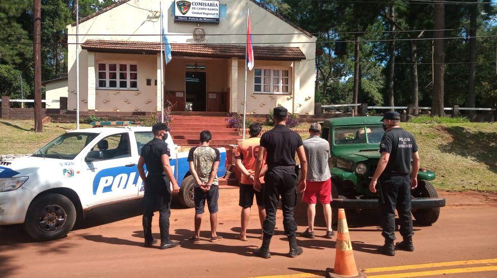 Campo Ramón: tres detenidos por el robo de 500 kilos de hoja verde robada
