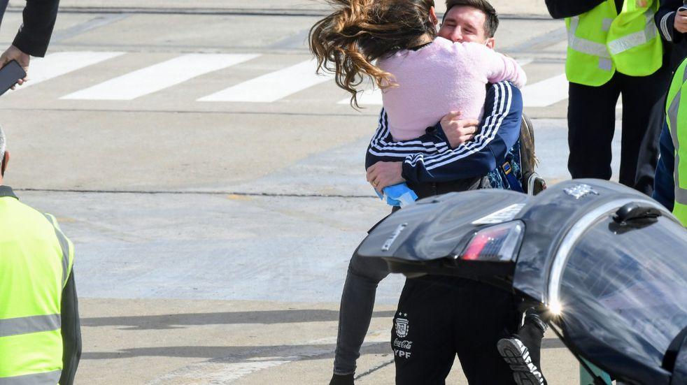 El emotivo reencuentro de Lionel Messi con Antonela en Rosario