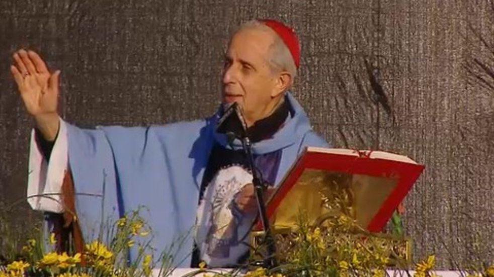 """El cardenal Mario Poli en Luján: """"Apuesten a la familia, lo mejor que tiene la Patria""""."""