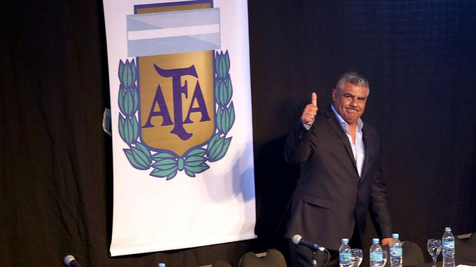 "La IGJ ratificó a Claudio ""Chiqui"" Tapia como presidente de la AFA hasta 2025. (DyN)"