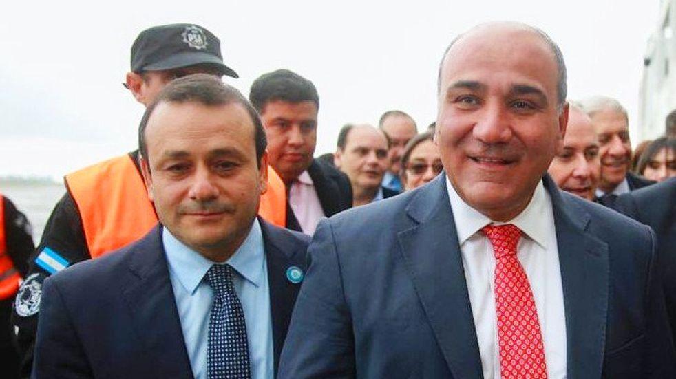 Herrera participó de la asunción del nuevo Gabinete Nacional y fue el primer gobernador que Juan Manzur recibió