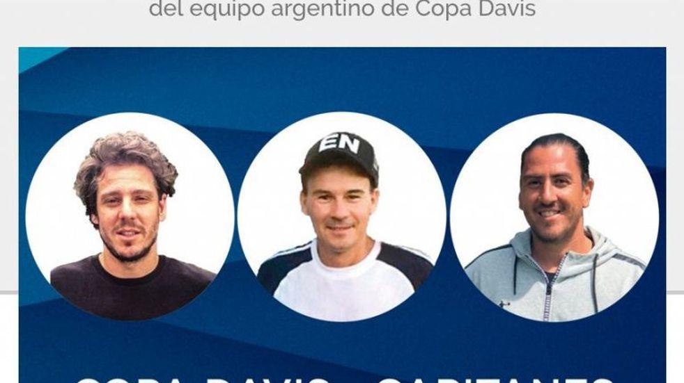 Gaudio, Coria y Cañas, nuevos capitanes argentinos de Copa Davis