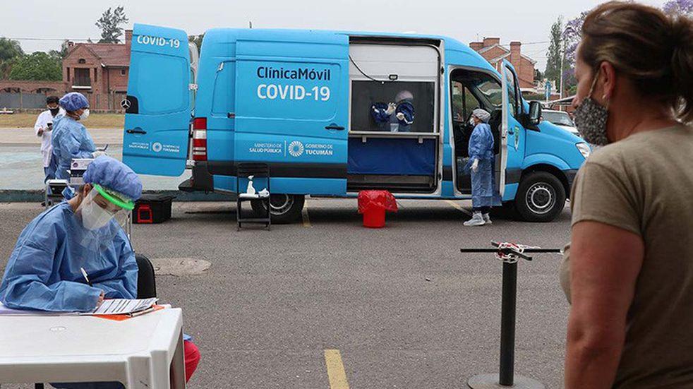 Coronavirus: 843 casos y 15 muertos en Tucumán en lo que va del jueves