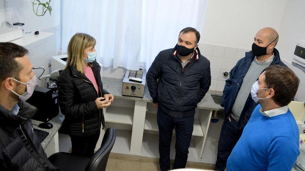 Inauguración del laboratorio del Hospital Municipal de Pérez