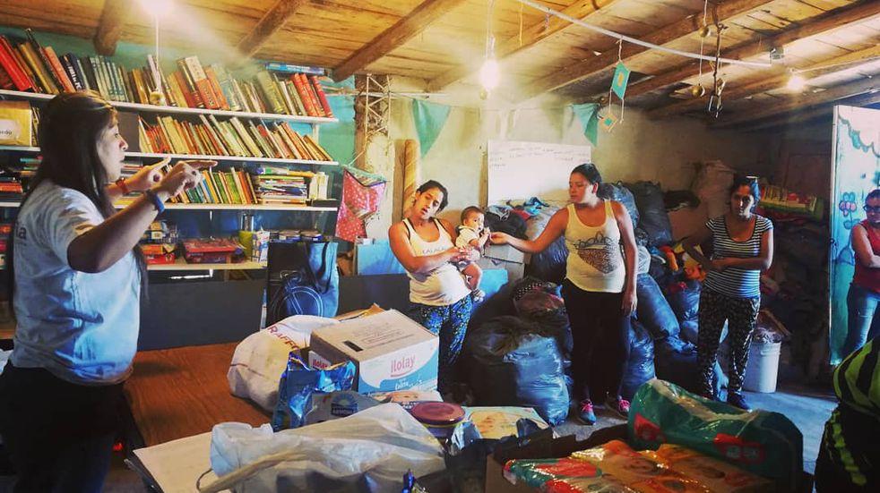 Lucha contra la desnutrición: Pata Pila atiende a 81 niños en dos asentamientos en San Rafael
