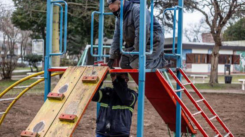 La Municipalidad realiza trabajos de mejoras en la Plaza de la Revolución