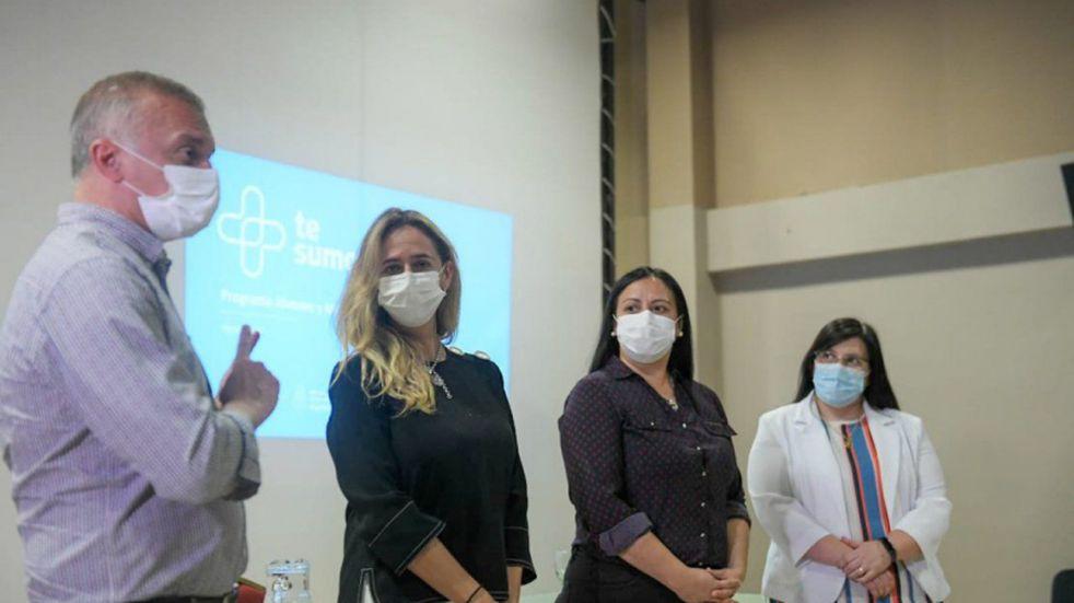 """Autoridades provinciales presentaron el programa """"Te Sumo"""" en varios municipios de la zona Norte."""
