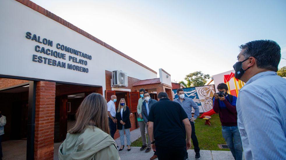Capitanich inauguró la ampliación de un centro comunitario y supervisó el avance de obras en Fontana